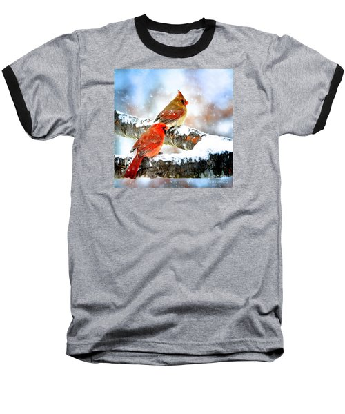 Together In The Snow Baseball T-Shirt
