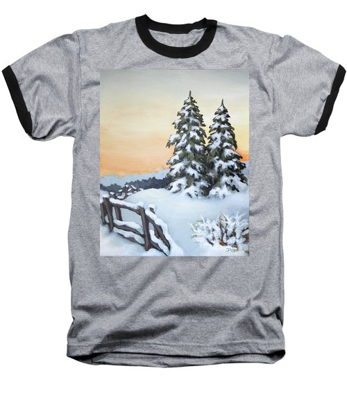 Baseball T-Shirt featuring the painting Together by Inese Poga