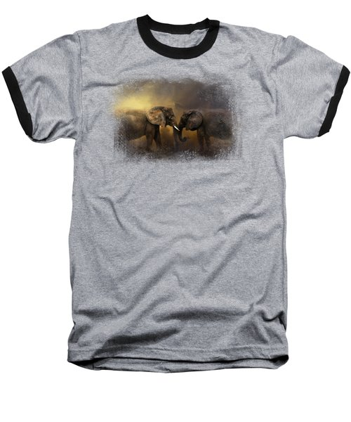 Together Through The Storms Baseball T-Shirt by Jai Johnson