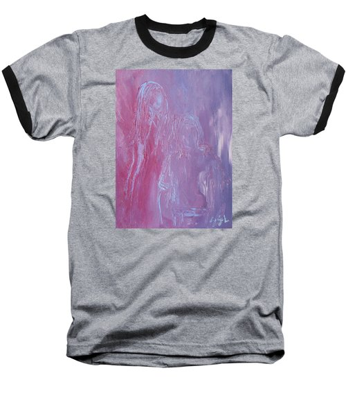 Baseball T-Shirt featuring the painting Togetherness by Jane See