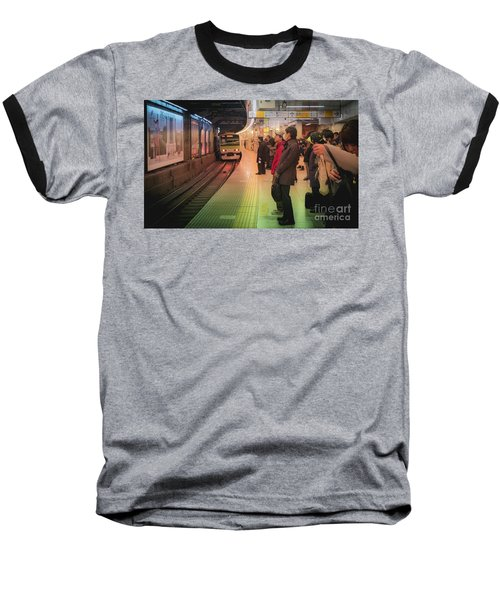 Baseball T-Shirt featuring the photograph Tokyo Metro, Japan by Perry Rodriguez
