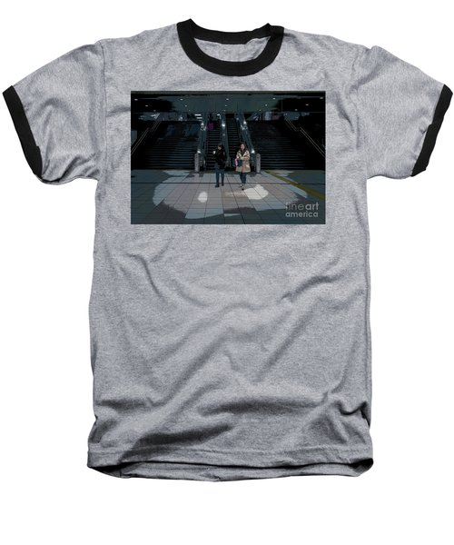 Baseball T-Shirt featuring the photograph Tokyo Metro, Japan Poster by Perry Rodriguez