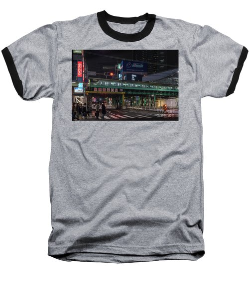 Baseball T-Shirt featuring the photograph Tokyo Metro by Perry Rodriguez