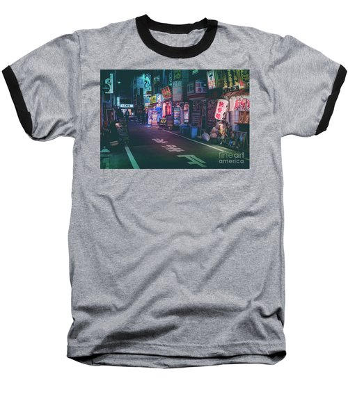Baseball T-Shirt featuring the photograph Tokyo Side Streets, Japan by Perry Rodriguez