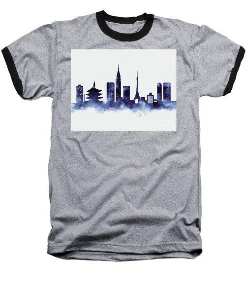 Tokyo Skyline Baseball T-Shirt