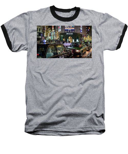 Baseball T-Shirt featuring the photograph Tokyo Taxis, Japan by Perry Rodriguez