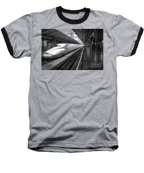 Baseball T-Shirt featuring the photograph Tokyo To Kyoto, Bullet Train, Japan by Perry Rodriguez