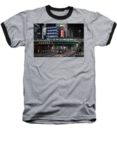 Baseball T-Shirt featuring the photograph Tokyo Transportation, Japan by Perry Rodriguez