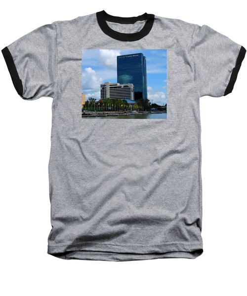 Baseball T-Shirt featuring the photograph Toledo's Waterfront I by Michiale Schneider