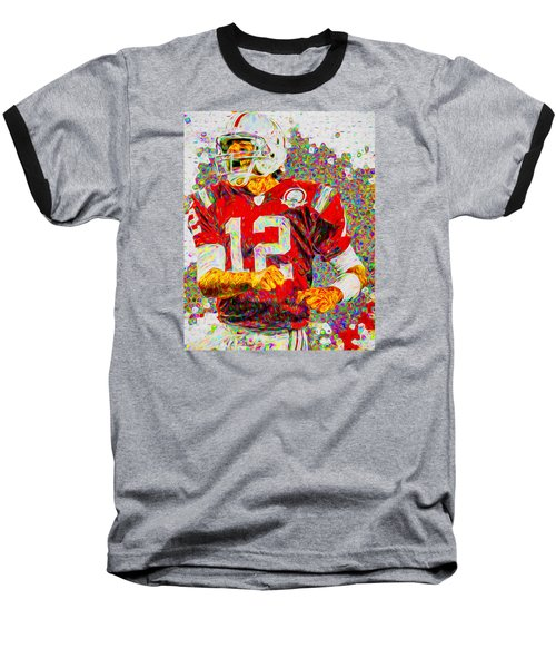 Tom Brady New England Patriots Football Nfl Painting Digitally Baseball T-Shirt