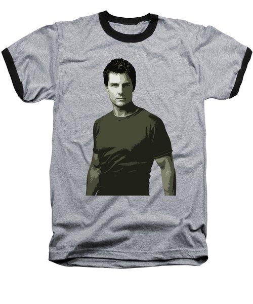 Tom Cruise Cutout Art Baseball T-Shirt