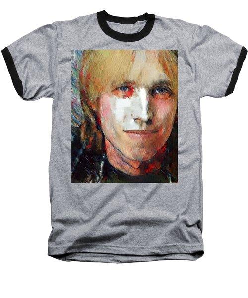 Tom Petty Tribute Portrait 3 Baseball T-Shirt