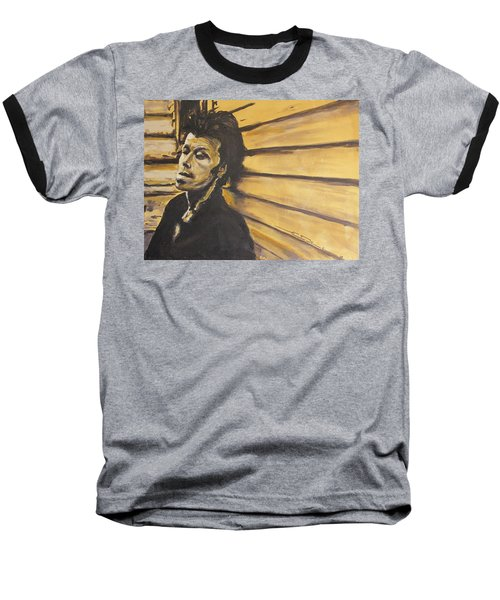Tom Waits Baseball T-Shirt by Eric Dee