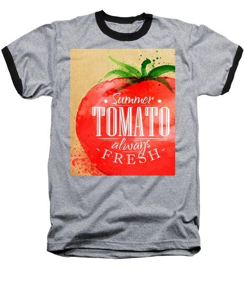 Tomato Baseball T-Shirt by Aloke Creative Store