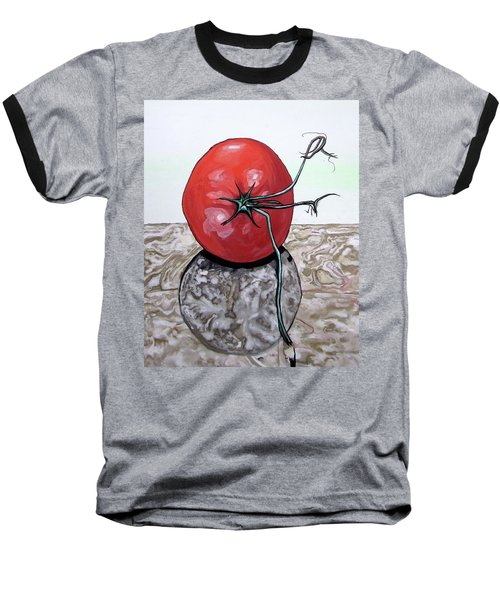 Tomato On Marble Baseball T-Shirt
