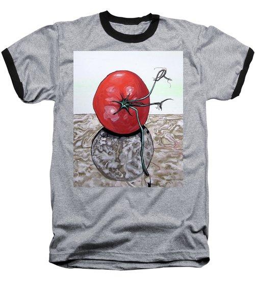 Tomato On Marble Baseball T-Shirt