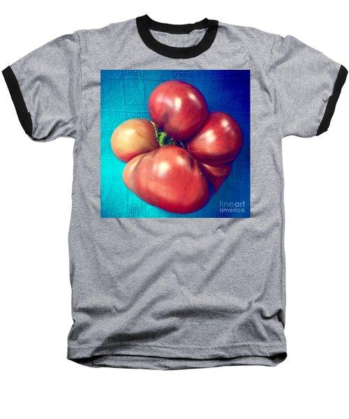 Tomatoe Baseball T-Shirt by Suzanne Lorenz