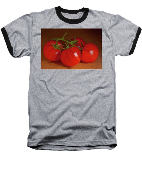 Tomatoes 01 Baseball T-Shirt by Wally Hampton