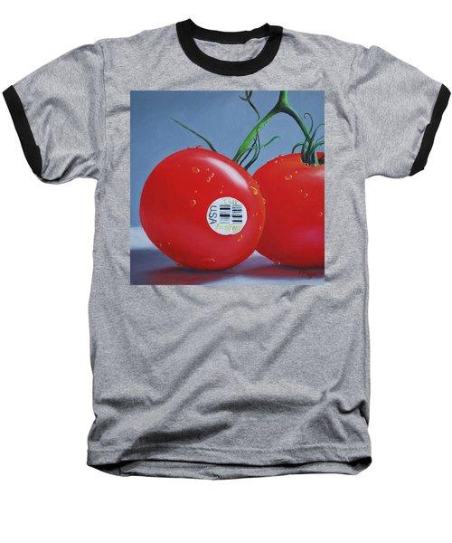 Tomatoes With Sticker Baseball T-Shirt