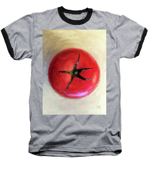 Baseball T-Shirt featuring the digital art Tomato by Lois Bryan