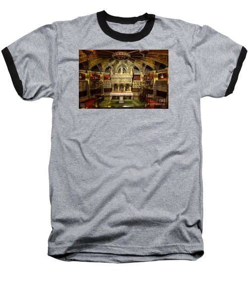 Tomb Of Saint Eulalia In The Crypt Of Barcelona Cathedral Baseball T-Shirt