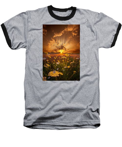 Baseball T-Shirt featuring the photograph Tomorrow Is Just One Of Yesterday's Dreams by Phil Koch