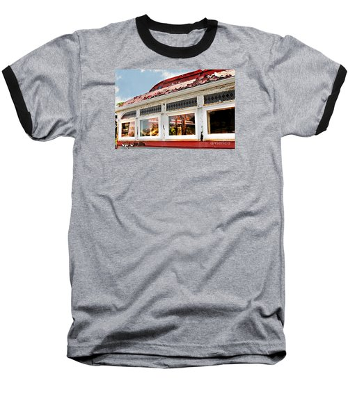 Tom's Diner Ghost Baseball T-Shirt