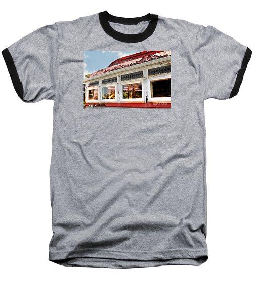 Tom's Diner Ghost Baseball T-Shirt