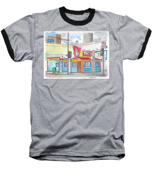 Tony Burger, Downtown Los Angeles, California Baseball T-Shirt