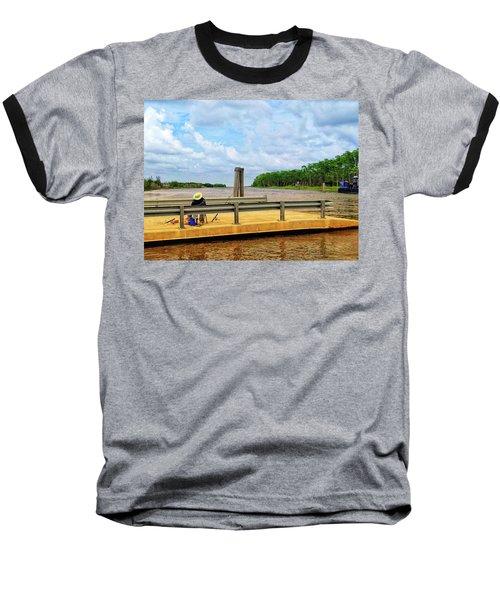 Too Hot To Fish Baseball T-Shirt