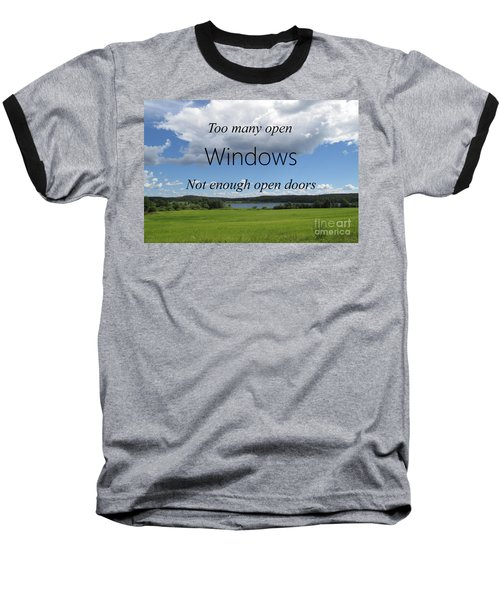 Too Many Windows Baseball T-Shirt
