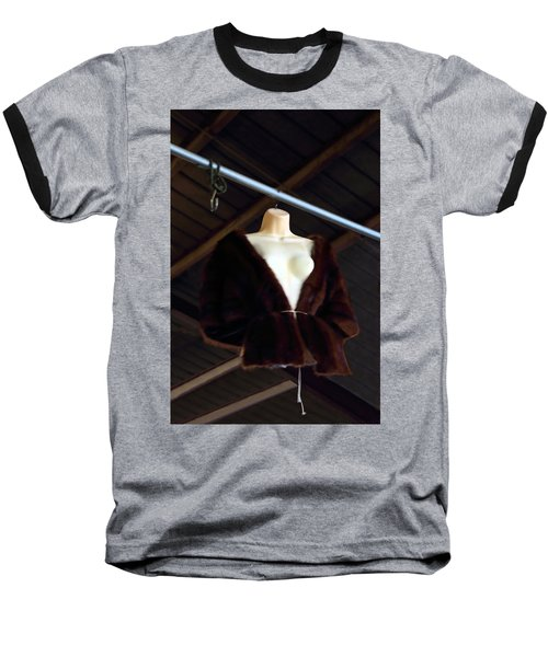 Top Fur Coat Baseball T-Shirt