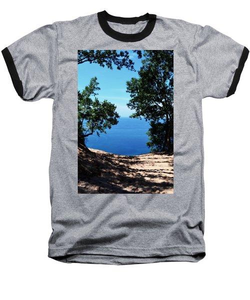 Top Of The Dune At Sleeping Bear Ll Baseball T-Shirt