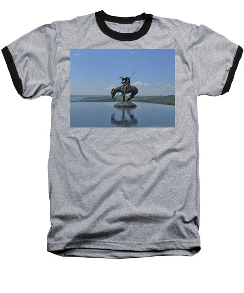 Top Of The Rock Infinity Pool Baseball T-Shirt by Julie Grace