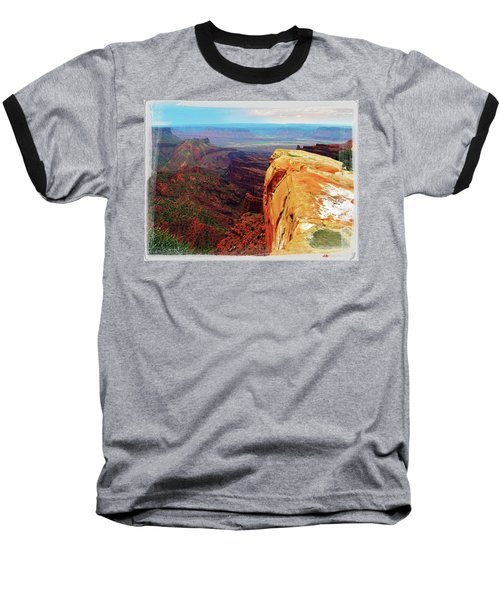 Baseball T-Shirt featuring the digital art Top Of The World by Gary Baird