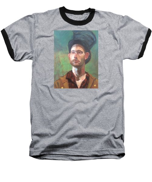 Baseball T-Shirt featuring the painting Topper by JaeMe Bereal