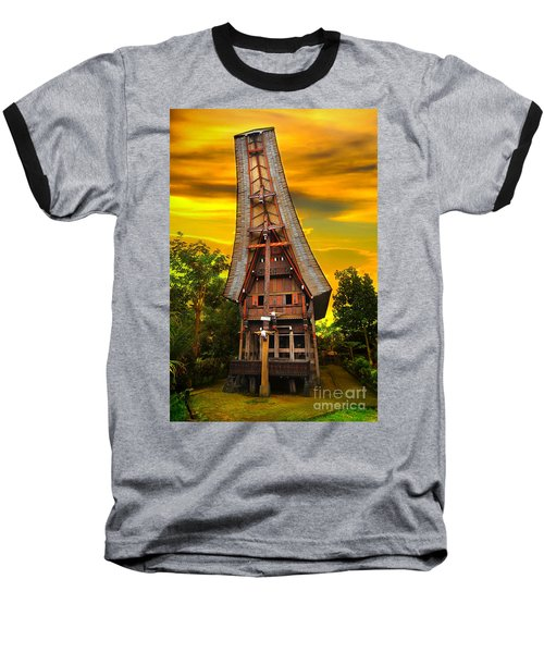Toraja Architecture Baseball T-Shirt by Charuhas Images
