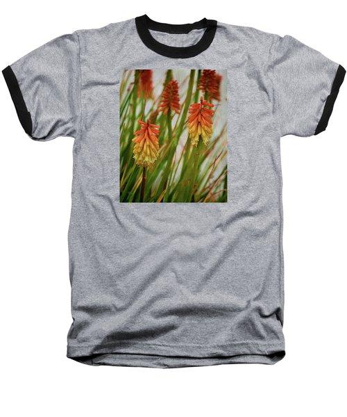 Torch Lily At The Beach Baseball T-Shirt