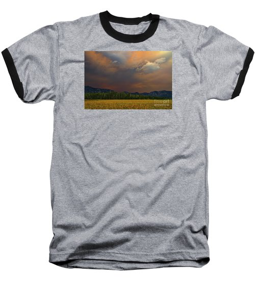 Tormented Sky Baseball T-Shirt by Mitch Shindelbower