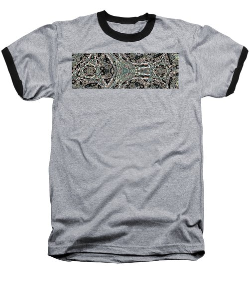 Baseball T-Shirt featuring the digital art Torn Patterns by Ron Bissett