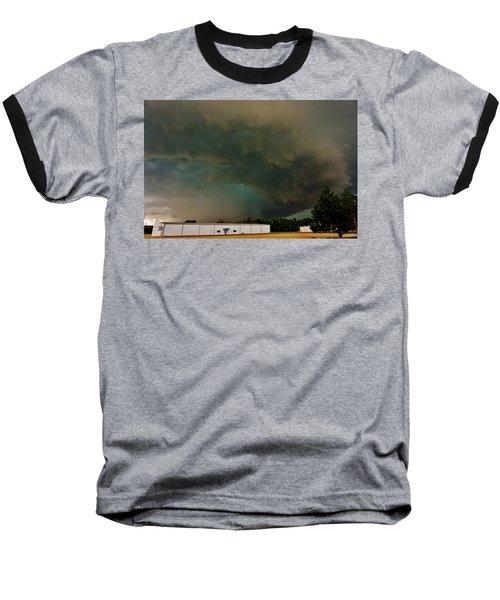Tornadic Supercell Baseball T-Shirt by Ed Sweeney
