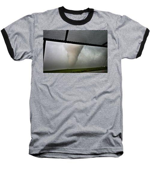 Tornado Near Yorkton Sk. Baseball T-Shirt by Ryan Crouse