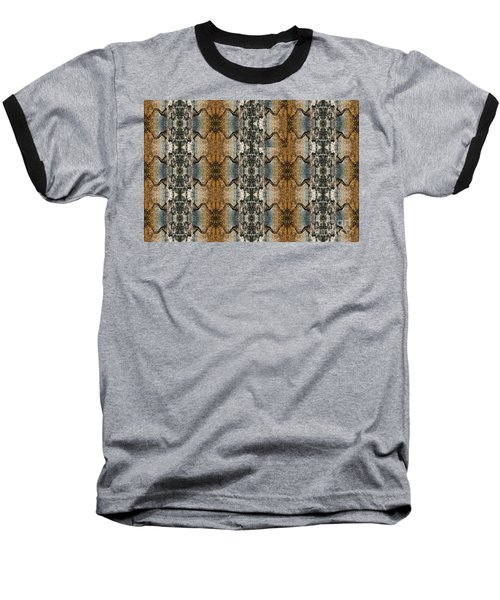 Tornado Pattern Baseball T-Shirt