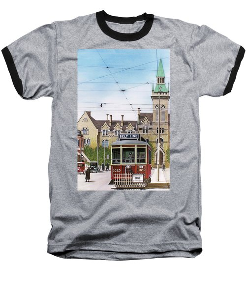 Baseball T-Shirt featuring the painting Toronto Belt Line by Kenneth M Kirsch