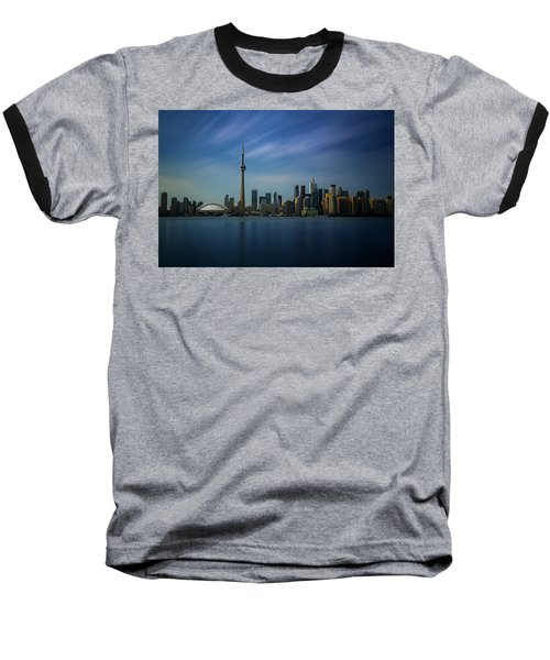 Toronto Cityscape Baseball T-Shirt