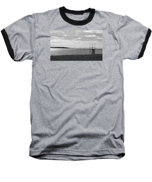 Baseball T-Shirt featuring the photograph Toronto Winter Beach by Valentino Visentini