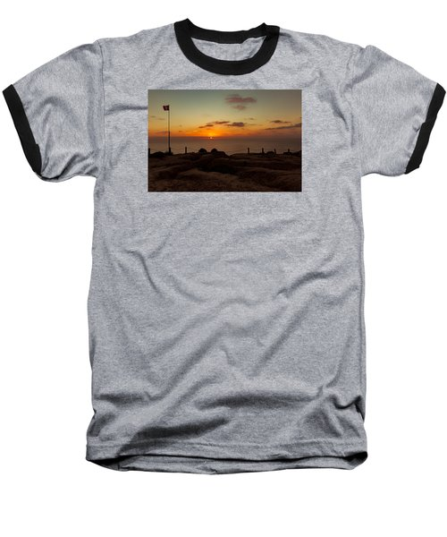 Baseball T-Shirt featuring the photograph Torrey Pine Glider Port Sunset by Jeremy McKay
