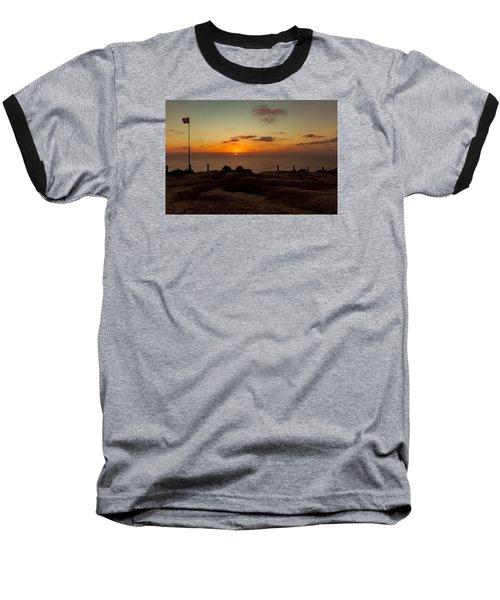 Torrey Pine Glider Port Sunset Baseball T-Shirt by Jeremy McKay