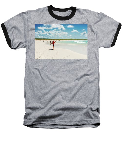 Baseball T-Shirt featuring the photograph Tortuga Bay Beach At Santa Cruz Island In Galapagos  by Marek Poplawski