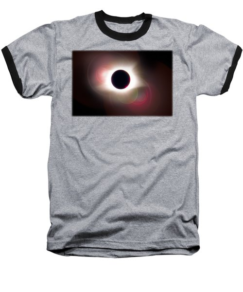 Total Eclipse Of The Sun T Shirt Art With Solar Flares Baseball T-Shirt